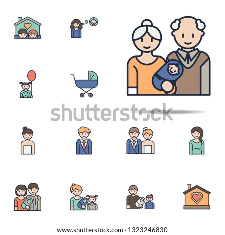 grandparents and infants cartoon icon. Family icons universal set for web and mobile