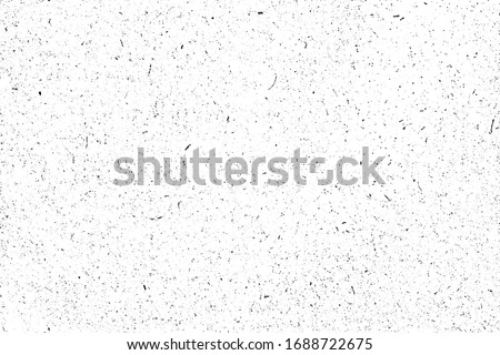 Grange mottled texture. Monochrome background of small noise with spots, fibers, noise and grain. Overlay template. Vector illustration