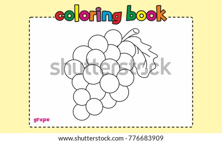 Grape Coloring Book For kids/children
