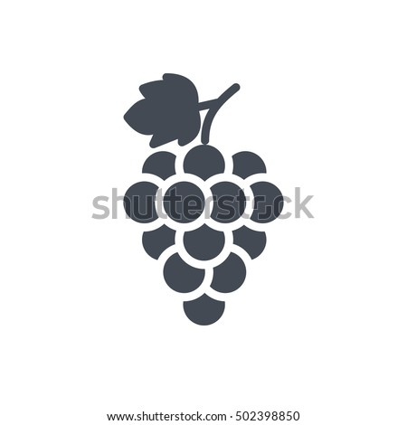 grape icon food fruits outlined