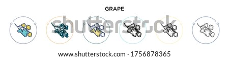 grape icon in filled  thin line