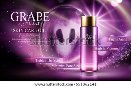 grape seed skin care oil