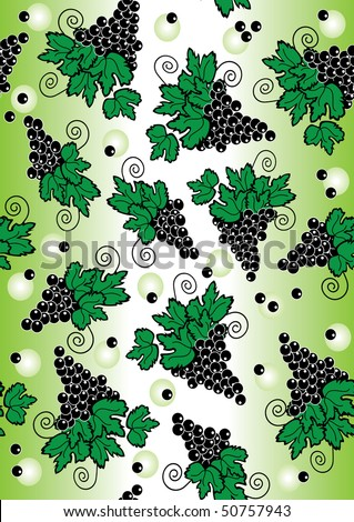 Grape vector drawing  textile background