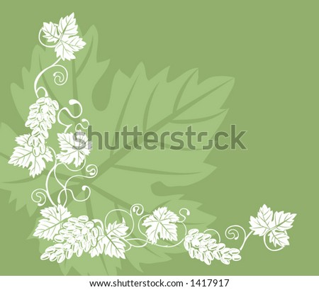 grape vine clipart. stock vector : grape vine
