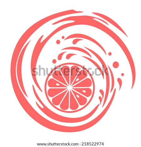 grapefruit isolated on white