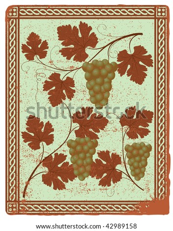 Grapes are decorated in classical style for DESIGN.