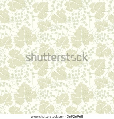 grapes pattern in floral style