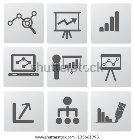 Graph and diagram for business icons,vector