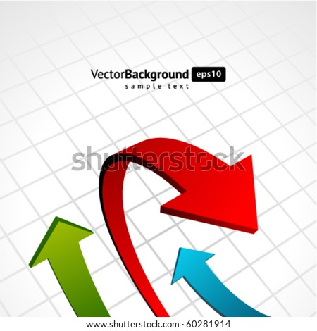 Graph arrows swirl vector background