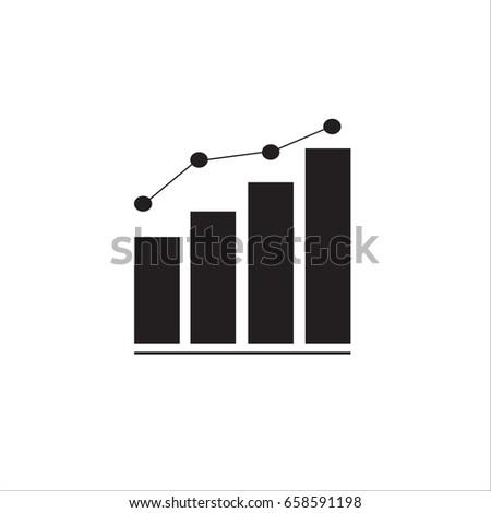Graph bar graph vector icon,growing graph vector icon 10 EPS