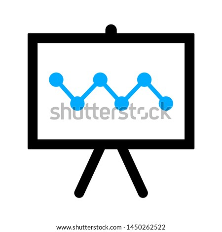 graph chart board  icon. Logo element illustration. graph chart board  symbol design. colored collection. graph chart board concept. Can be used in web and mobile