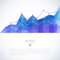 graph chart growth financial business statistic data visual background vector editable deal chart diagram graph with colorful glowing polygon pattern graph chart growth financial business statistic da