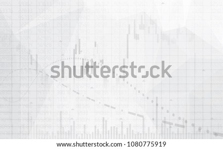 Graph chart of stock market investment trading on white background design. Bullish point,  financial chart, Trend of graph. Vector illustration