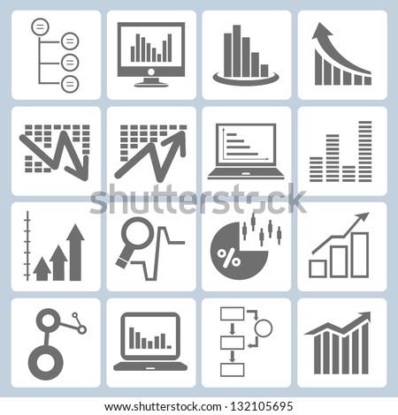 graph, chart set