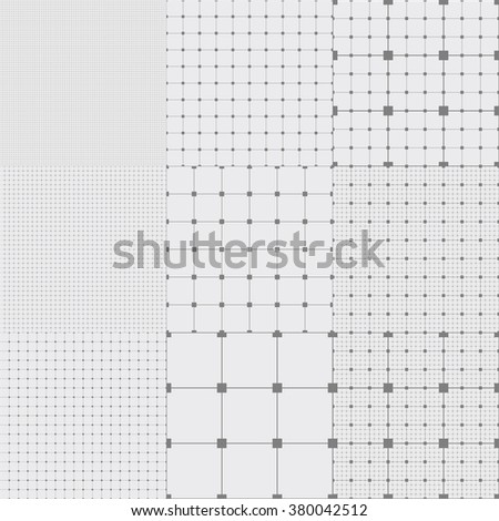 Graph grid seamless squared paper background. Paper sheet pattern. EPS10 vector