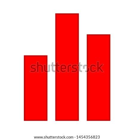 graph icon. flat illustration of graph. vector icon. graph sign symbol
