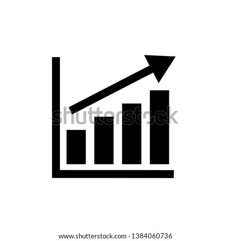 graph icon in trendy flat style