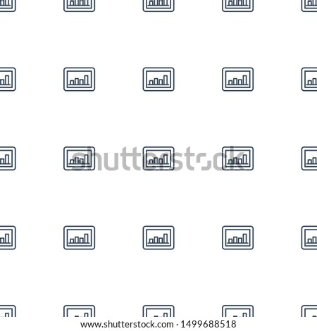 graph icon pattern seamless white background. Editable outline graph icon. graph icon pattern for web and mobile.