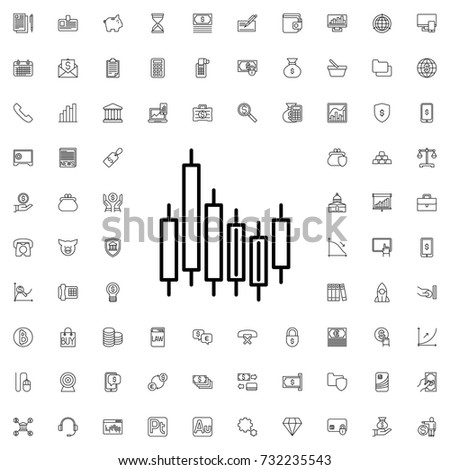 Graph icon. set of outline finance icons.