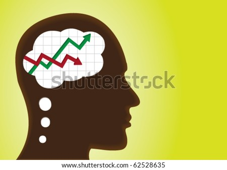 Graph of profit and loss â?? thinking head