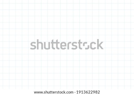 Graph paper, coordinate paper, grid paper, or squared paper image simple background illustration. Drawing with light blue fine lines making up a regular grid.