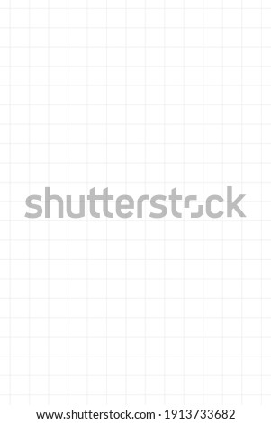 Graph paper, coordinate paper, grid paper, or squared paper image simple background illustration. Drawing with light black or gray fine lines making up a regular grid. Portrait, large size grid.