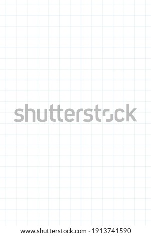 Graph paper, coordinate paper, grid paper, or squared paper image simple background illustration. Drawing with light blue fine lines making up a regular grid. Portrait, large size grid.