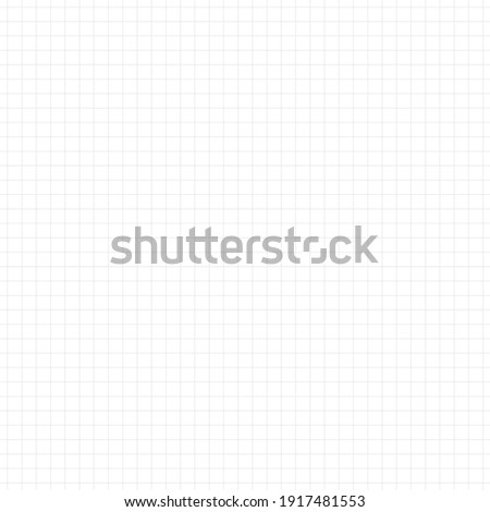 Graph paper, coordinate paper, grid paper, or squared paper image simple background illustration. Drawing with light Gray fine lines making up a regular grid. Square, small size grid.