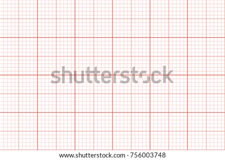 Graph Paper. Seamless Pattern. Architect Background. Red Millimeter Grid  Template. Vector Illustration