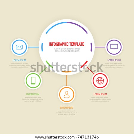 Graph, presentation, chart. Business vector concept . #747131746
