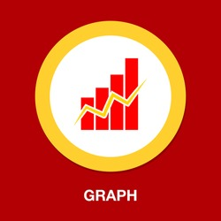 graph symbol icon. Simple element illustration. graph concept symbol design. Can be used for web and mobile UI/UX