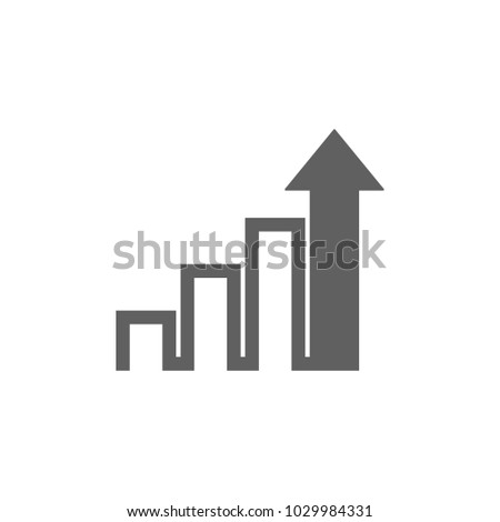 Graph with arrow icon in trendy flat style isolated on white background. Symbol for your web site design, logo, app, UI. Vector illustration, EPS