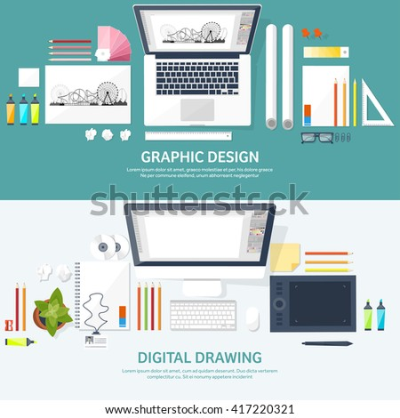 Royalty free responsive web design and web 236339074 stock photo Good computer drawing programs