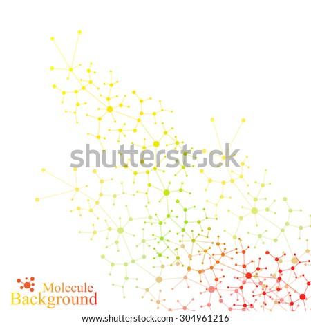 graphic background  molecule