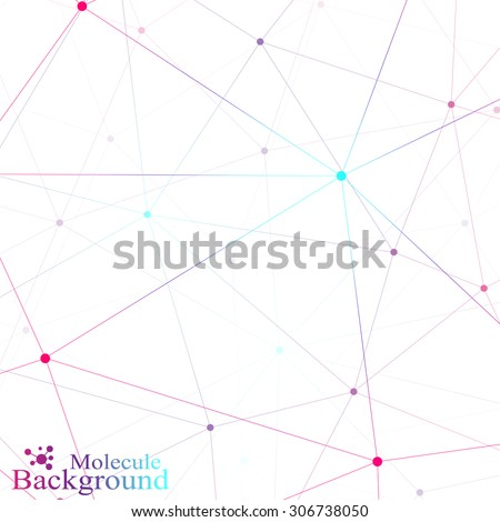 graphic background molecule and