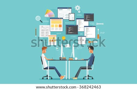 graphic design and  web  developer working on workplace.  develop for website and application.programming.business character.programmer.web creative design .web coding