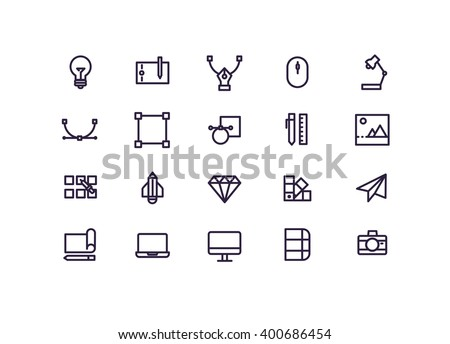 Graphic design icon set vector.