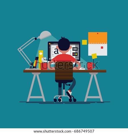 graphic design professional in
