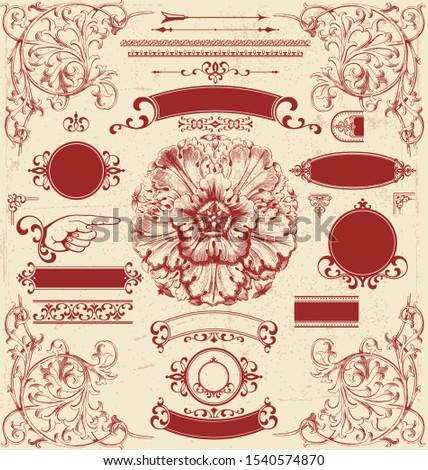 Graphic Design Victorian Elements illustration vectors