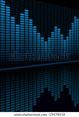 Graphic Equalizer Display for title page design (editable vector) - stock vector