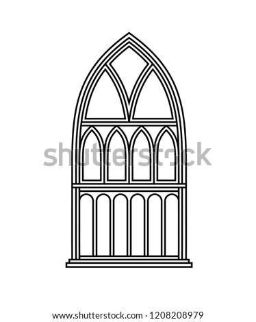 graphic gothic window
