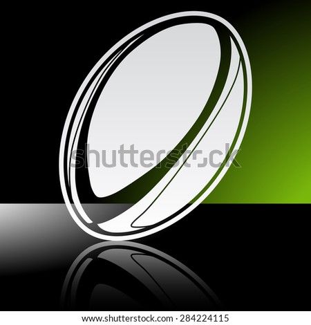 graphic icon of rugby ball with