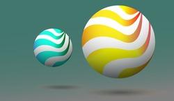 Graphic illustration 3 d spherical ball