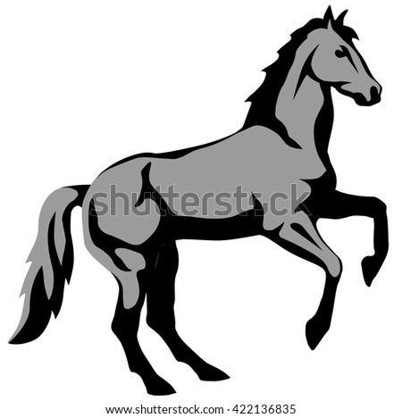 graphic illustration of a horse