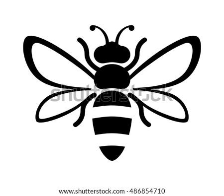 free bee silhouette vector download free vector art stock