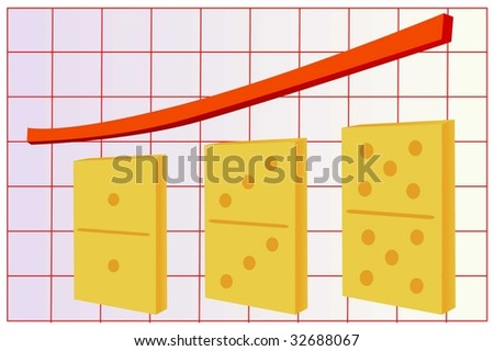 graphic of growth - stock vector