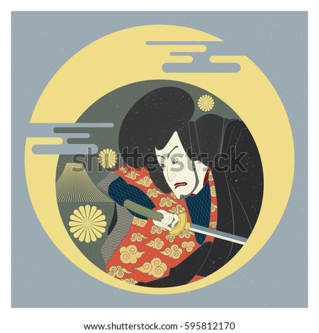 graphic of japanese samurai