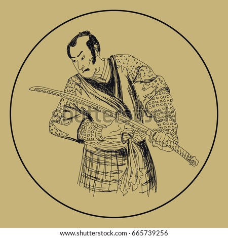 graphic of japanese samurai