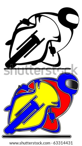Graphic of motogp/superbike/roadbike taking a corner : Shutterstock
