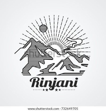 graphic of rinjani mountain